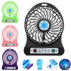 Fan Portable Rechargeable Led Light Fan Air Cooler Mini Desk Usb 18650 Battery Fan Usb Cooling Rechargeable Fans#p30