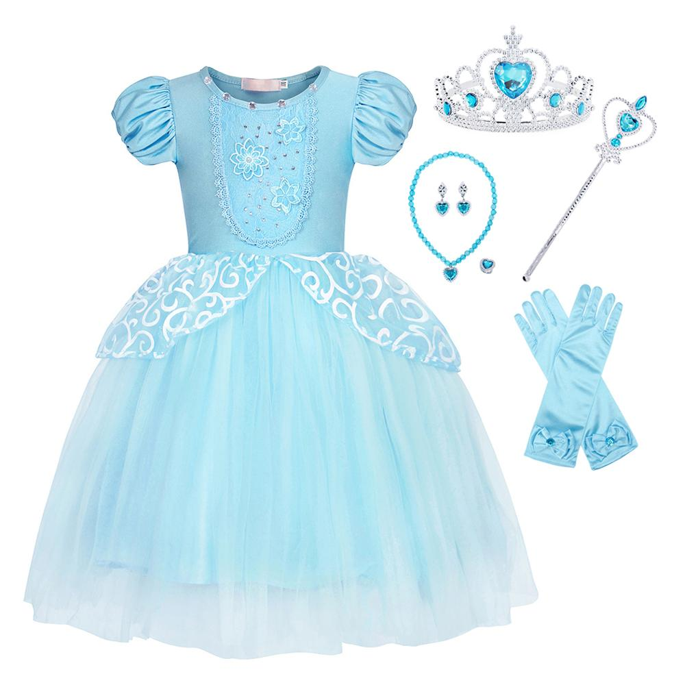 AmzBarley Princess Outfits Skirts Set for Girls Birthday Party Costume Cosplay Dress Up with Accessories