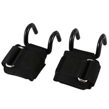 1 пара крюк для тяжелой атлетики тренировки тренажерный зал сцепление с толстым ремешком поддержка запястья мощность тяжелой атлетики гантели, крюк