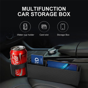 Image 2 - Car Seat Crevice Storage Box Slot Multi function Organizer Car Foldable Quilted Cup Holder Car Interior Accessories Car Storage