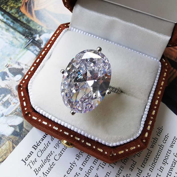 빈티지 여성 화이트 크리스탈 스톤 링 럭셔리 골드 실버 얇은 결혼 반지 여성을위한 미니멀리스트 신부 타원형 약혼 반지