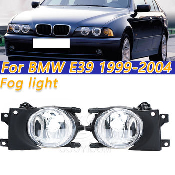 COOYIDOM 1 Pair Left &Right Car Front Fog Light Without Bulbs Replacement Kit For BMW E39 1999-2004 2000 2001 Fog Lamp Assembly 1pc lh without bulbs front grille fog lamp for ford kuga escape 2013
