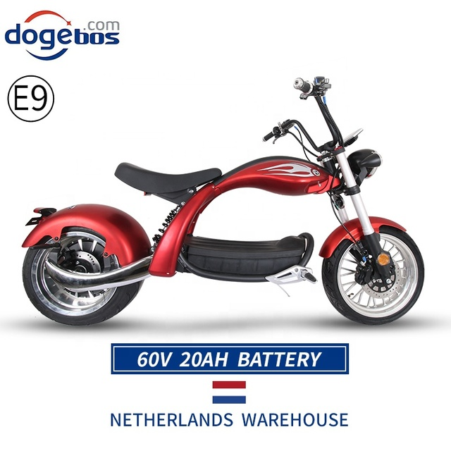 New Modal High Speed Citycoco 2000W Electric Motorcycle 60V 20AH 12inch Power Scooters Motorcycles Electric Adult E Scooter 6