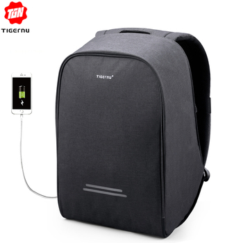Tigernu Hard Shell Anti theft Men 15.6inch USB Recharging Laptop Backpacks Male Mochila School Bags for  boys  Casual Laptop Bag