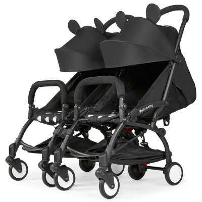 7,8 детская двойная коляска-двойка, 2 в 1, съемная, Легко складывающаяся детская коляска для безопасности автомобиля
