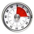 Механический магнитный Таймер из нержавеющей стали, кухонный магнит круглой формы, новый обратный отсчет на 60 минут