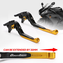 Motorcycles Folding Extendable Brake Clutch Levers Aluminum For KYMCO XCITING 250 300 500 400 DOWNTOWN 125/200/300/350