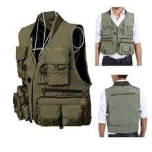 Открытый водонепроницаемый жилет для рыбалки, походный охотничий жилет с карманами, мужские куртки для рыбалки, жилет для фотосъемки