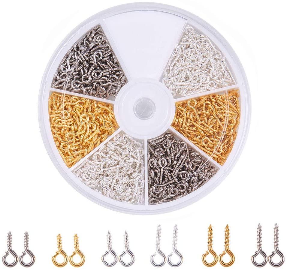 700 шт/кор разноцветные железные штифты с отверстиями для бусин