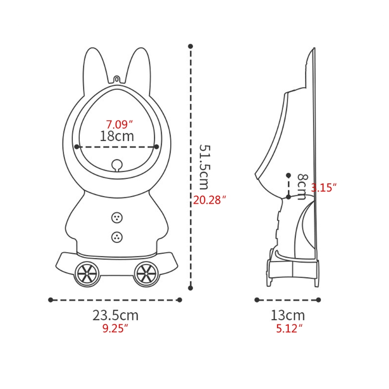 Rabbit Baby Potty Toilet Toddler Stand Vertical Urinal Kid Training Pee Portable Q9QB