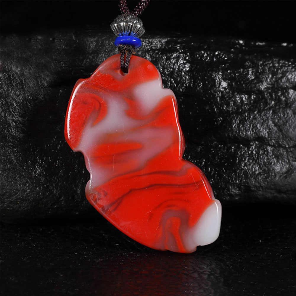 จีนสีแดงสีขาวหยกมังกรจี้หยก Pixiu สร้อยคอสร้อยคอสร้อยคอสร้อยคอสร้อยคอสร้อยคอสร้อยคอสร้อยคอสร้อยคอสร้อยข้อมืออัญมณีแฟชั่นอุปกรณ์เสริมมือแกะสลักของขวัญ Amulet