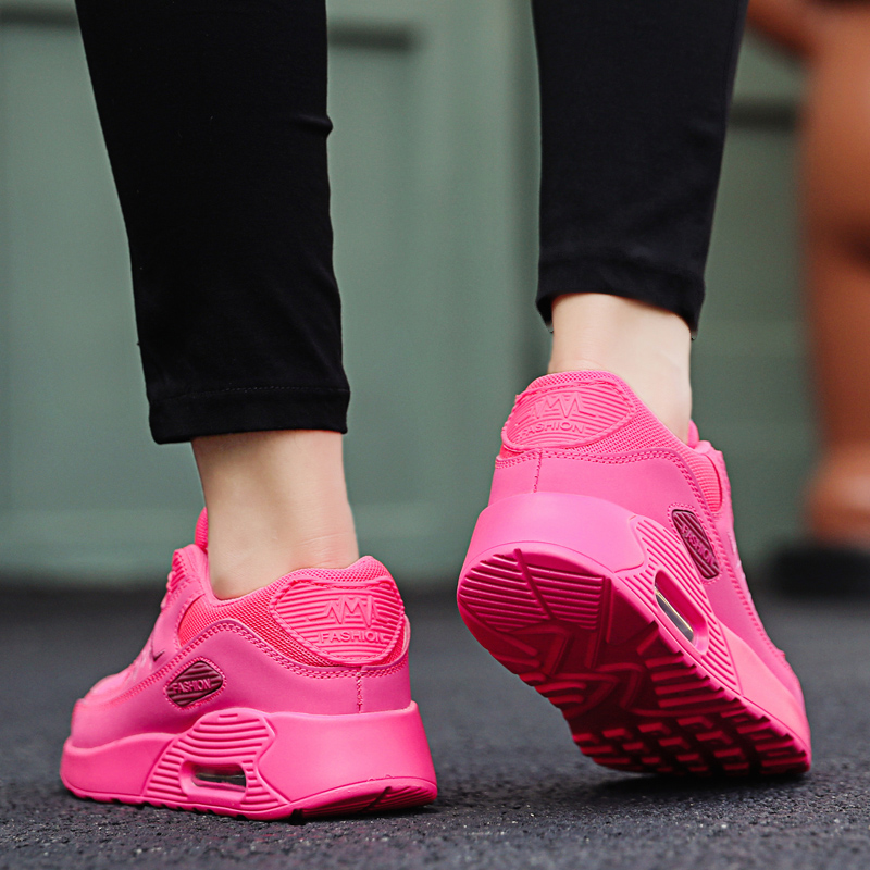 Image 5 - Женские кроссовки из сетчатого материала; модная обувь на плоской подошве с воздушной подушкой; женские кроссовки на толстой платформе; повседневная обувь; Zapatos De Mujer; Новинка; Лидер продажКроссовки и кеды   -