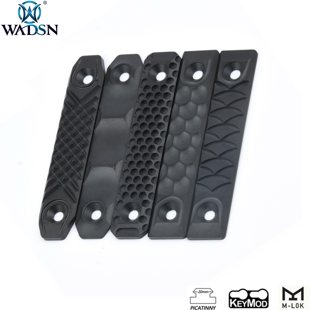 WADSN Airsoft RS CNC Style Aluminum Handguard Rail Cover For M-lok Keymod Picatinny Rail System Softair Hunting Accessories