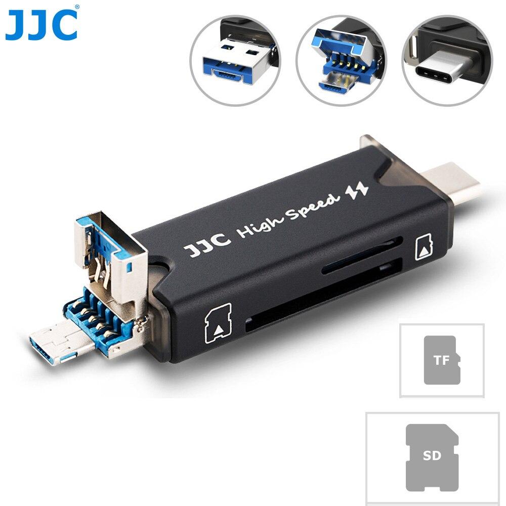 JJC USB 3.0 Micro USB 2.0 Type-C USB 3.0 Card Reader SDXC SDHC SD MMC RS-MMC TF Micro SD Micro SDXC Micro SDHC UHS-I Card Reader