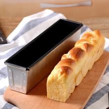 Rectangular Bread Mold Toast Box Baking Cake Sandwich Molds Small Non-stick Bellows Cover Baking Tools French Bread Baked Oven