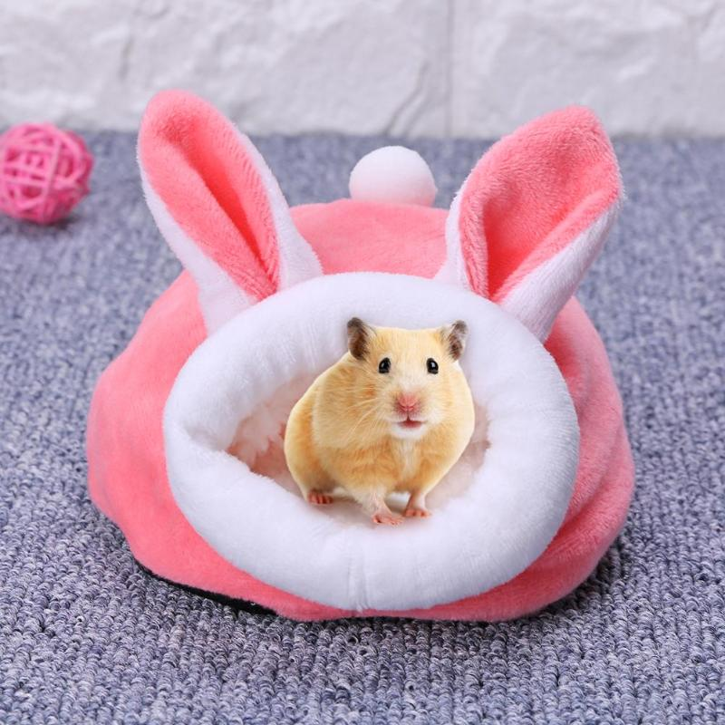 Dog Bed Pet Mouse Guinea Pig Bed Sleeping House Warm Hamster Puppy Kitten Home Beds Mini Small Animals Sleeping Bed Pet Supplies