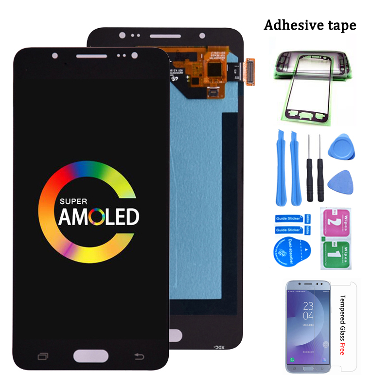 Super Amoled For Samsung Galaxy J5 2016 SM-J510F <font><b>J510FN</b></font> J510M J510Y J510G J510 LCD <font><b>Display</b></font> with Touch Screen Digitizer Assembly image