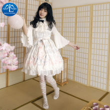 Sweet Lolita Victorian Dress JSK Long Sleeves Printing Bowknot Tea Party Outfit Halloween Cosplay New Year Loli Skirt Plus Size