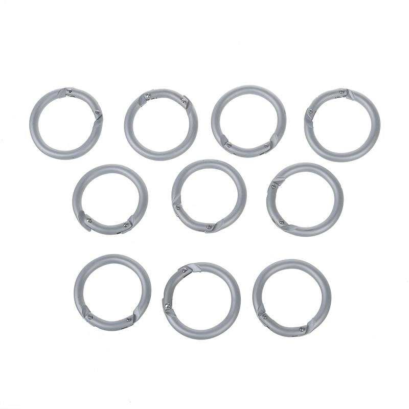 10x Mini Circle Round Carabiner Camping Spring Snap Clip Hook Keychain Climbing