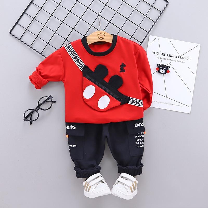 Spring Autumn Baby Boys Clothing Sets 2021 Cartoon Toddler Boys Girls Long Sleeve Shirt+Pants Suit Kids Tracksuit Clothes Set 1