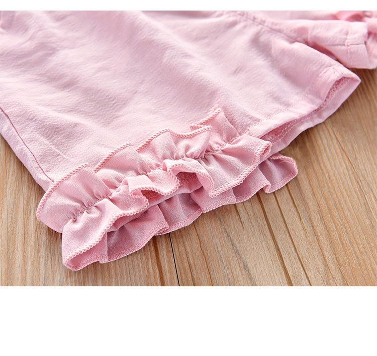 H4976a95c07254d1f9f6b2ca3aae4790fc Humor Bear Girls Clothing Set 2020 Korean Summer New Ice Cream Bow T-shirt+Pants Kids Suit Toddler Baby Children's Clothes