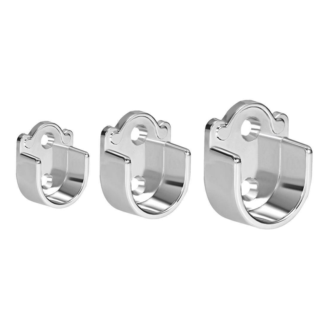 uxcell 2 4 6pcs wardrobe closet rod bracket zinc alloy shower curtain rod pole end supports sockets fit rod dia 19 22 25mm
