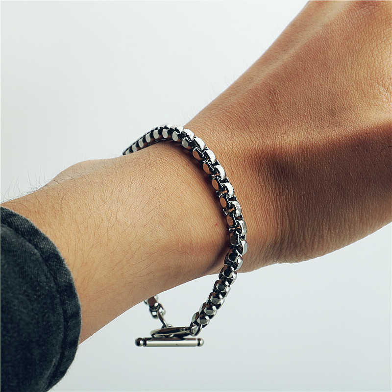 Stainless steel bracelet/couple/women/bileklik/femmeStainless Steel Bracelet Bangle pulsera hombre for women mens bracelets 2019