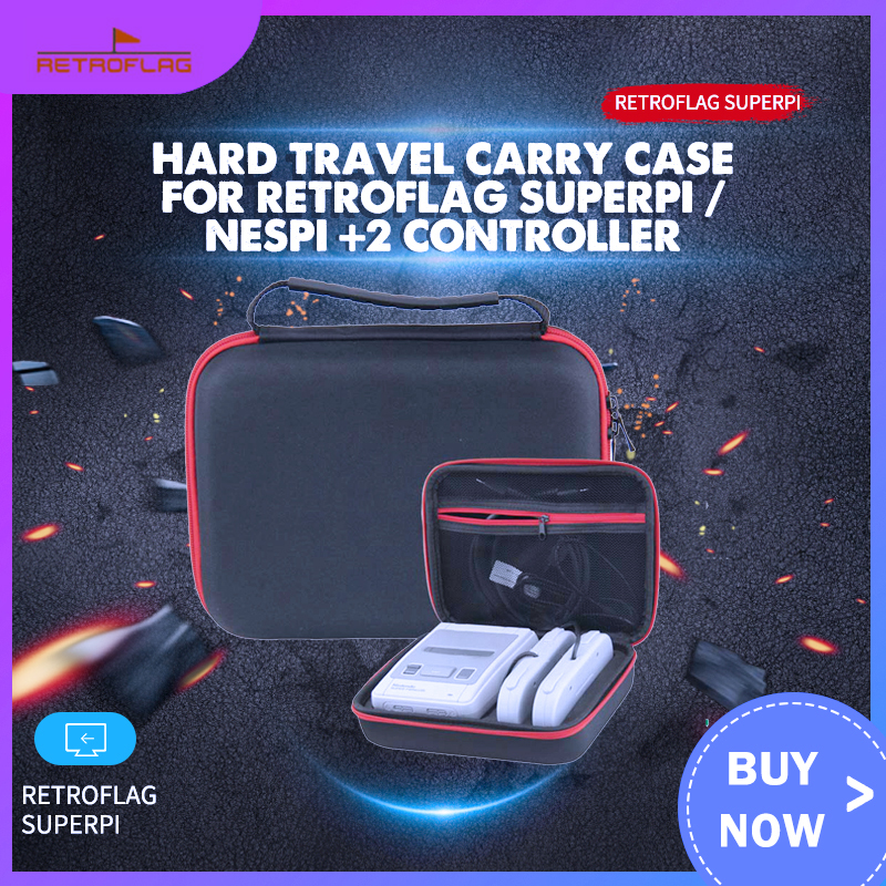 Hard Travel Carry Case For Retroflag SUPERPi / NESPi +2 Controller Storage Bag For Nintendo Super NES SNES Classic Mini Console