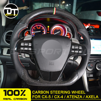 For Mazda 6 Axela Atenza 2017 CX-4 Carbon Fiber Steering Wheel Universal Replacement For mazda Carbon Accessories steering wheel