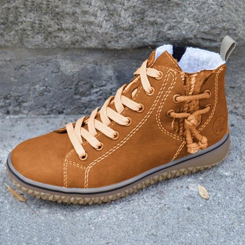 2021 Women Flock Ankle Boots Fashion Winter Women