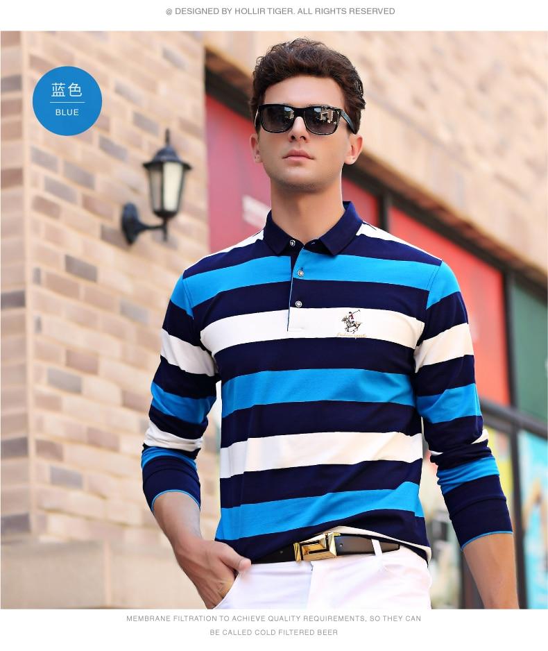 qualidade elegante bordado marca camisas polo casual pano negócios 8803