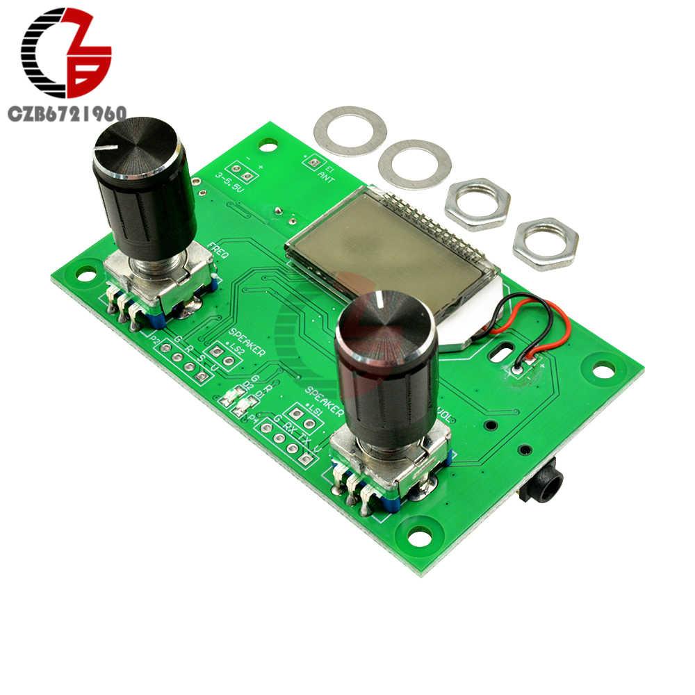 Цифровой стерео FM-приемник 87-108 МГц постоянного тока 3В-5 в с ЖК-дисплеем, радиомодуль DSP PLL с последовательным управлением, Поворотный энкодер, Регулируемая частота
