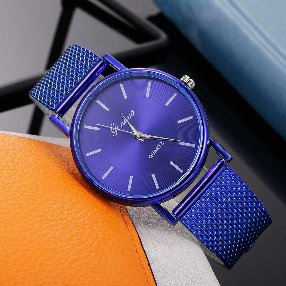Di modo della Donna Orologio Al Quarzo di Alta-end Blu di Vetro Alla Moda Distinto Signore Orologi Reloj Inteligente Mujer Zegarki Damskie