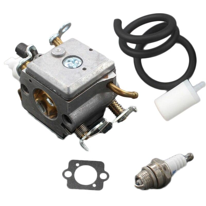 Carburetor Gas Fuel Line Spark Plug Gasket Repair For HUSQVARNA 340 345 346 350