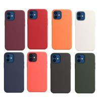 Funda de teléfono de cuero genuino para IPhone 12 Pro Max, cubierta magnética de silicona líquida de lujo para Iphone 12Pro Max 12 Mini