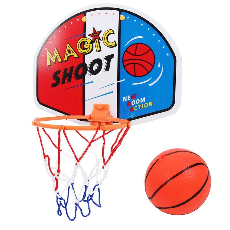 Регулируемая Крытая подвесная баскетбольная доска с ободом баскетбольная коробка мини баскетбольная настольная игра детская настенная иг...