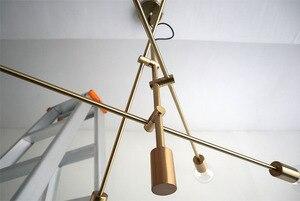 Image 5 - Nordic Modern Pendant Lights Long Pole Designer Pedant Lamp E27 led Light Bulb Hanging Lamp Ceiling Art Decoration Pendant Light