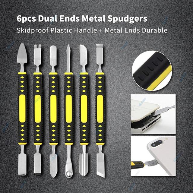 18 w 1 narzędzie do naprawy telefonu komórkowego zestaw podwójny Metal Spudger pęseta ESD otwarcie ekranu LCD demontaż narzędzia do telefonu Laptop SMD