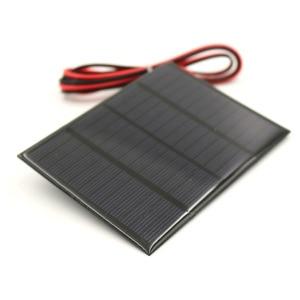 Image 5 - 태양 전지 패널 1.5W 12V 100cm 연장 와이어 미니 태양 전지 DIY 배터리 전화 충전기 휴대용 모듈 다결정