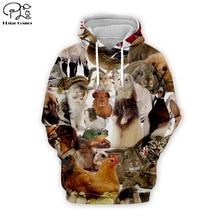 Men Funny Guinea pig/hamster/bunny/rabbit/cat printing 3D Hoodies women unisex Sweatshirt/zipper pullover tracksuit tshirt short