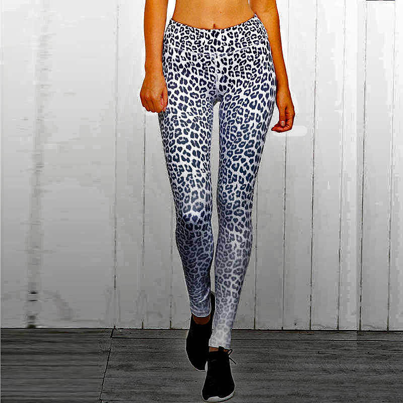Lucylizz Sexy pantalones mujeres Yoga Fitness Leggins de compresiva con dibujo polainas de secado rápido Skinny gimnasio correr