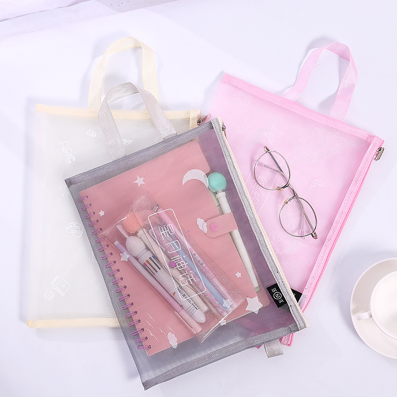 Loveот 1 шт./партия милая сумка для хранения Стильный Простой A4 сумка для файлов сетка прозрачная сумка типа тоут Канцтовары офисный школьный поставка