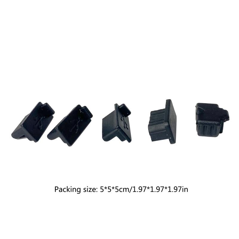 6pcs /7pcs Black Silicone Dust Plugs Set USB HDM Interface Anti-dust Cover Dustproof Plug for PS5 Game Console Accessories Parts 6