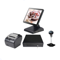 Whole set Cheap pos system point of sale touch screen POS terminal for restarunt all in one POS