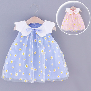 1 year old baby girl party dress summer dress for girls Sleeveless Embroidery Floral Tulle Princess Dresses robe enfant fille t5