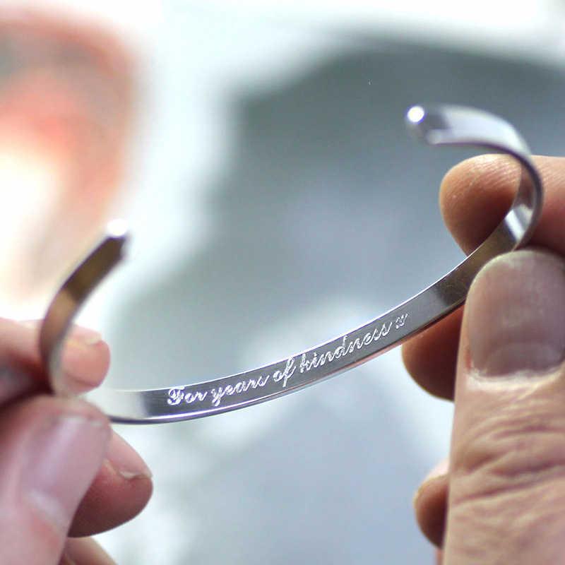 Vnox Cá Nhân Hóa Lắc Tay Cho Nữ Đồng Hồ Nam Thép Không Gỉ Đơn Giản Đeo Vòng Tay Unisex Cổ Điển Trang Sức Tùy Chỉnh BFF Tặng