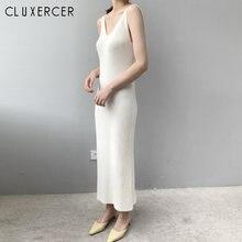 12 Цвет осень зима Спагетти ремень трикотажные платья для женщин