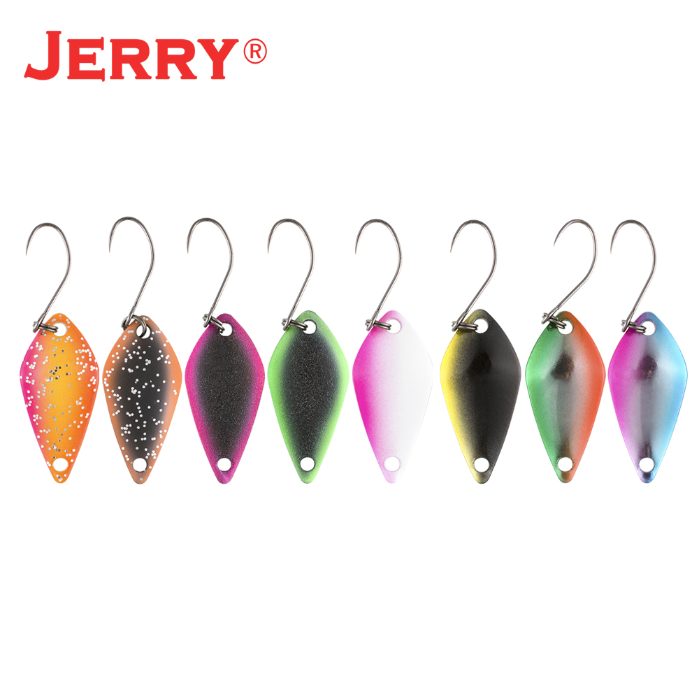 Jerry Aquariu 2.5g 3.5g 5gtrout spoon kit UV colors spinner bait glitter baubles pike perch freshwater micro fishing lures pesca(China)