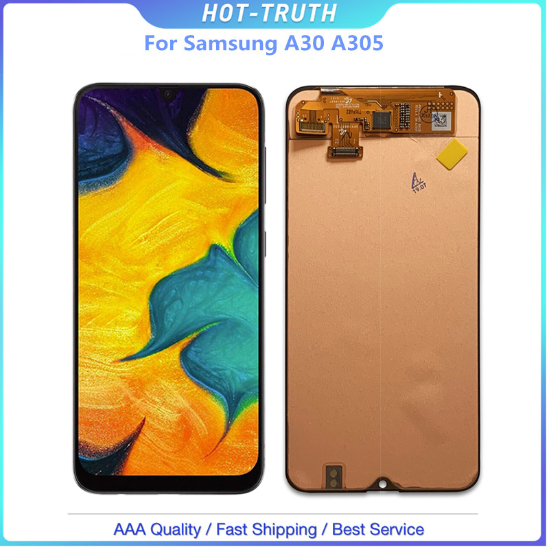 For <font><b>Samsung</b></font> galaxy <font><b>A30</b></font> A305/DS A305F A305FD A305A Display with frame Touch Screen Digitizer Assembly For <font><b>Samsung</b></font> <font><b>A30</b></font> <font><b>lcd</b></font> image