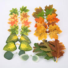 Leaves Simulation Wedding-Crafts Party-Decor Artificial-Maple-Leaves Fall Fake Thanksgiving